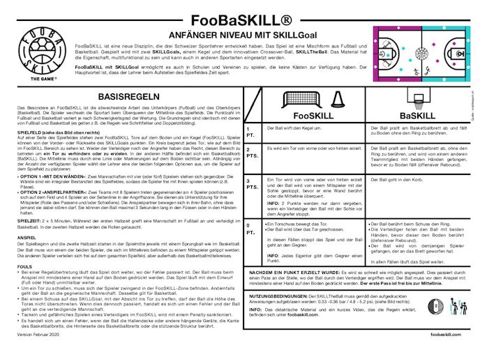 FooBaSKILL Regeln Anfänger mit SKILLGoal