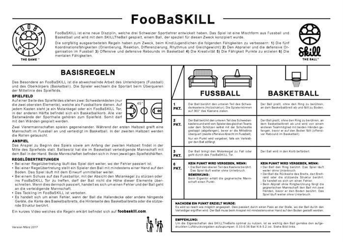 FooBaSKILL Regeln Anfänger mit Kasten