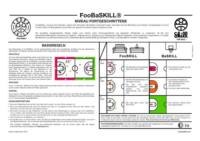 FooBaSKILL Regeln Niveau Fortgeschrittene mit SKILLGoal