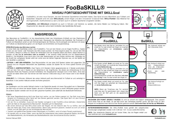FooBaSKILL Niveau Fortgeschrittene mit SKILLGoal